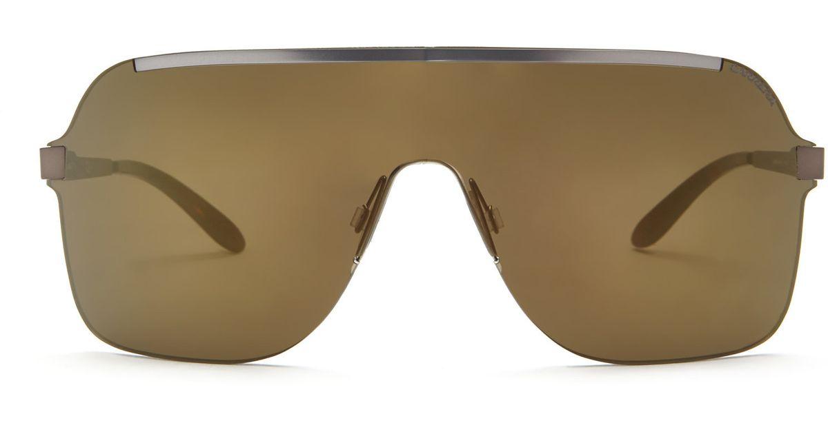 9f59f4afcbaf Carrera 93/S Rimless Shield Sunglasses in Brown for Men - Lyst
