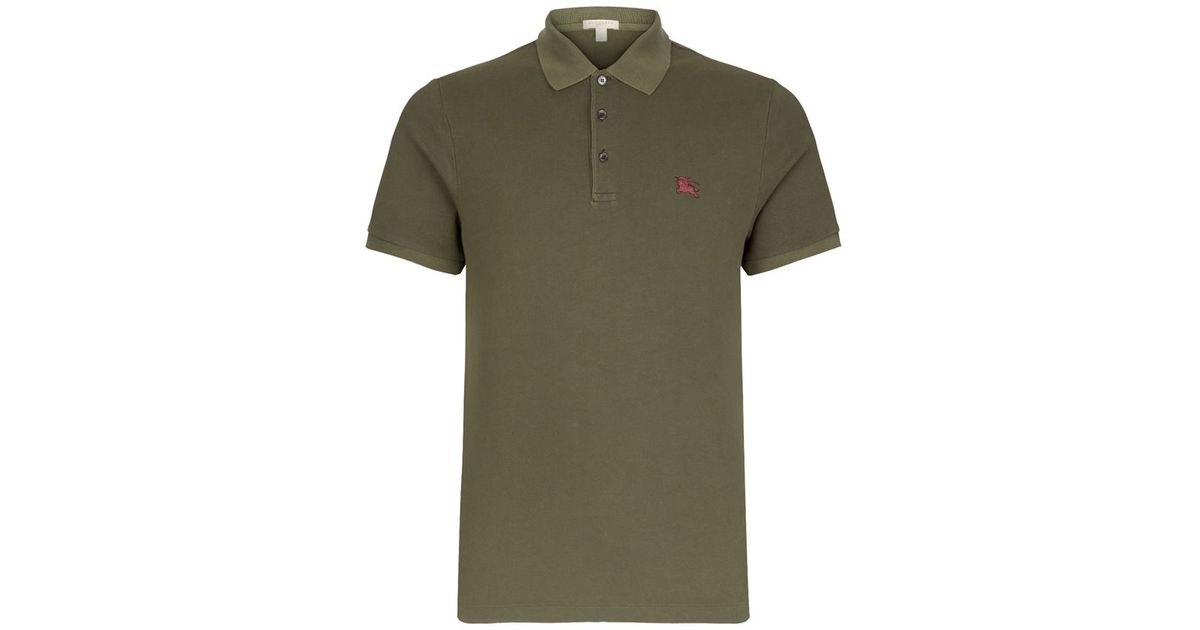 Burberry Brit Metal Logo Polo Shirt In Green For Men Lyst