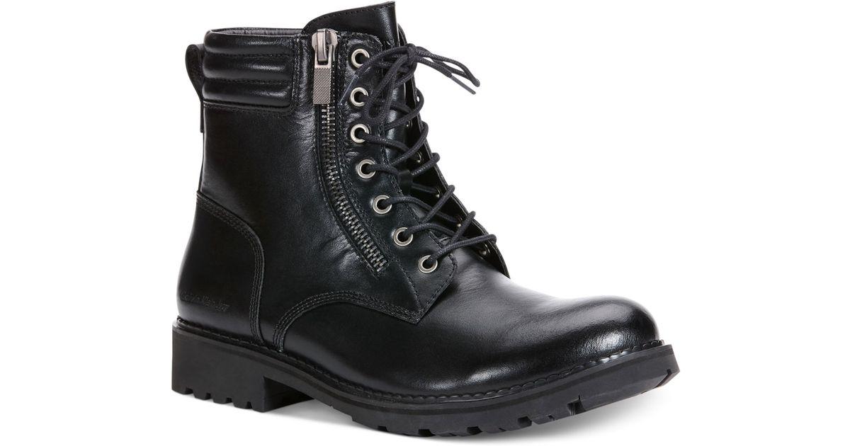 Calvin klein jeans Kai Moto Boots in Black for Men   Lyst