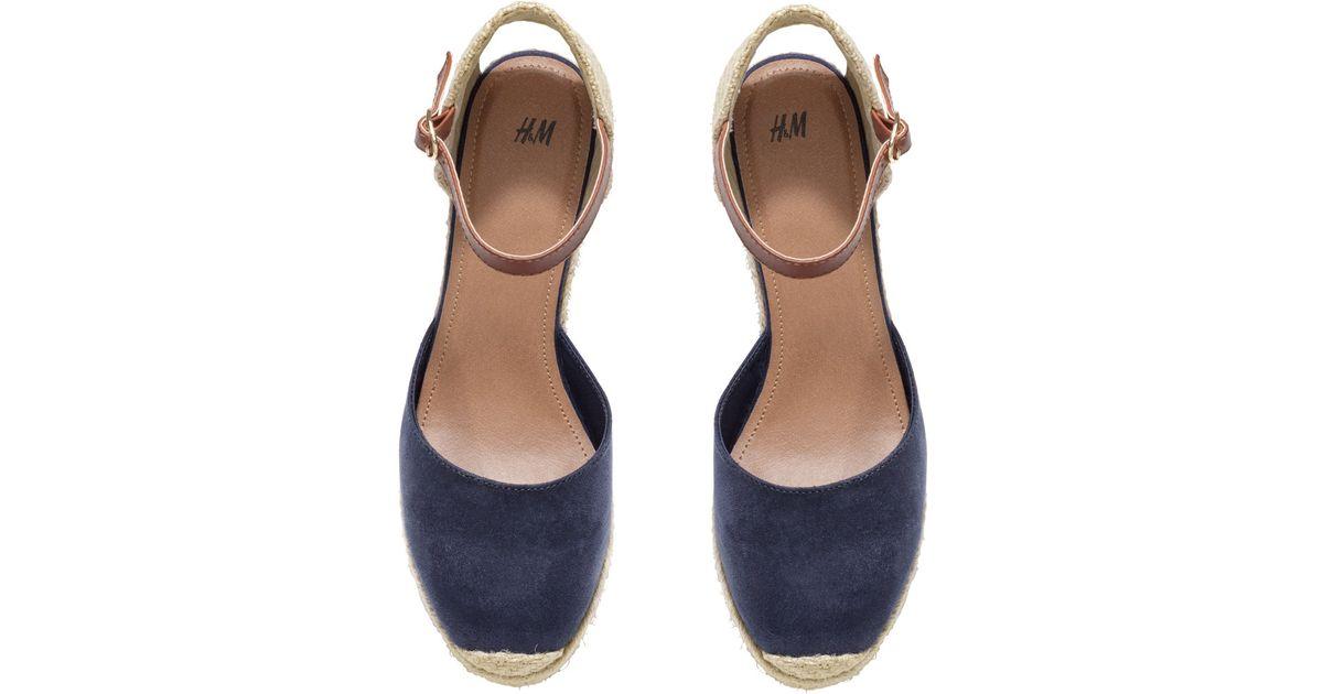 2d848321de H&M Wedge Heel Espadrilles in Blue - Lyst