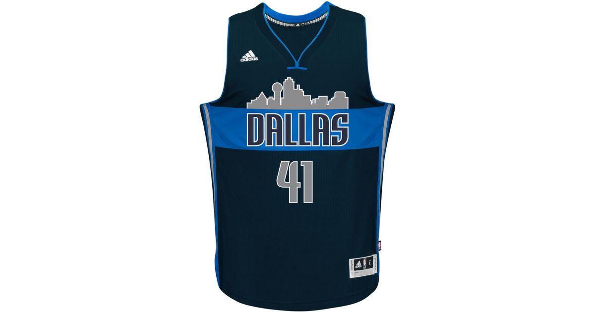 9e80137e3 ... germany lyst adidas originals mens dirk nowitzki dallas mavericks new  swingman jersey in blue for men