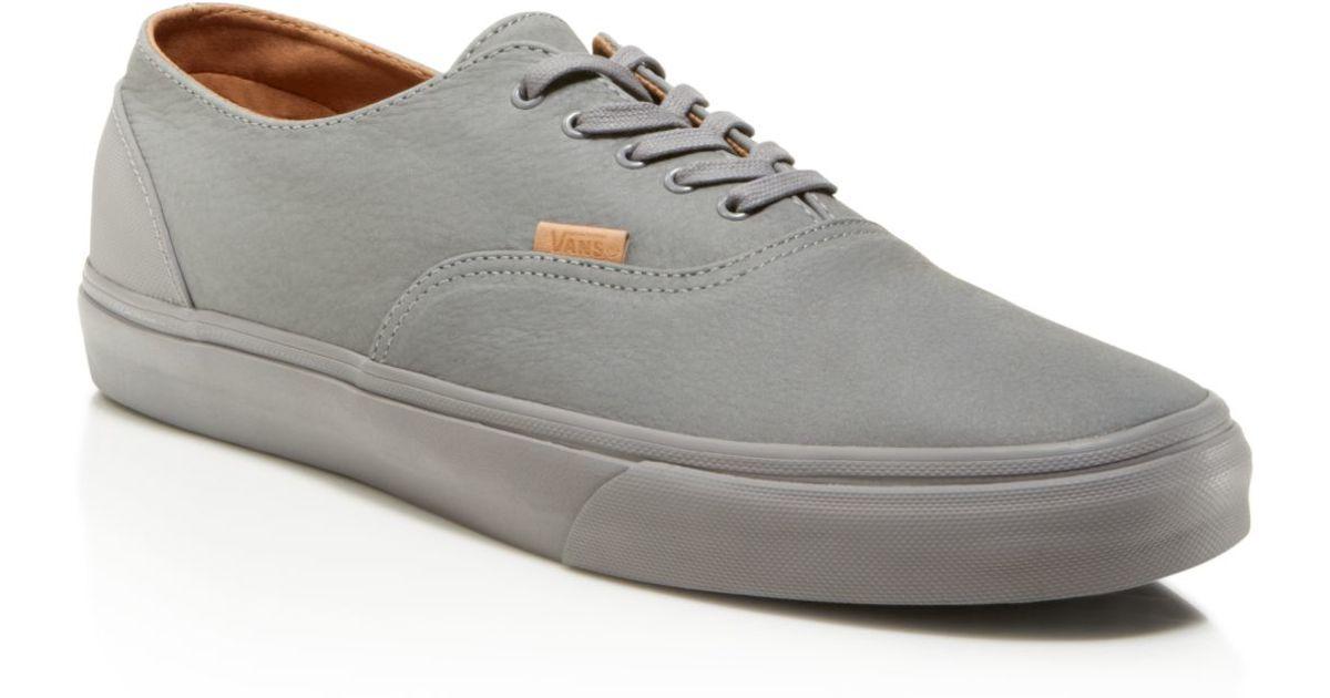 ecab1bf59b Lyst - Vans Era Decon Ca Mono Leather Sneakers in Gray for Men