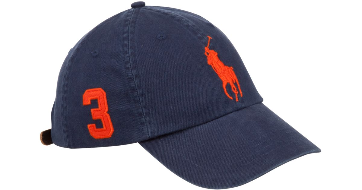 e46ae671d5cd70 Pink Pony Polo Big Pony Chino Baseball Cap in Blue for Men - Lyst