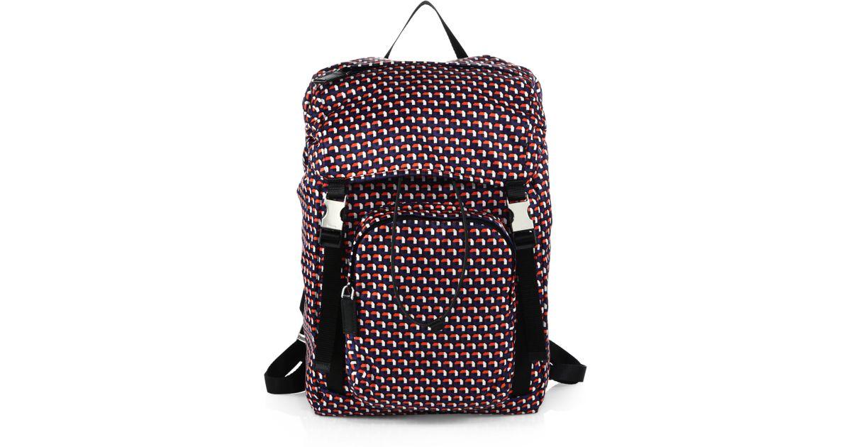 prada backpack red
