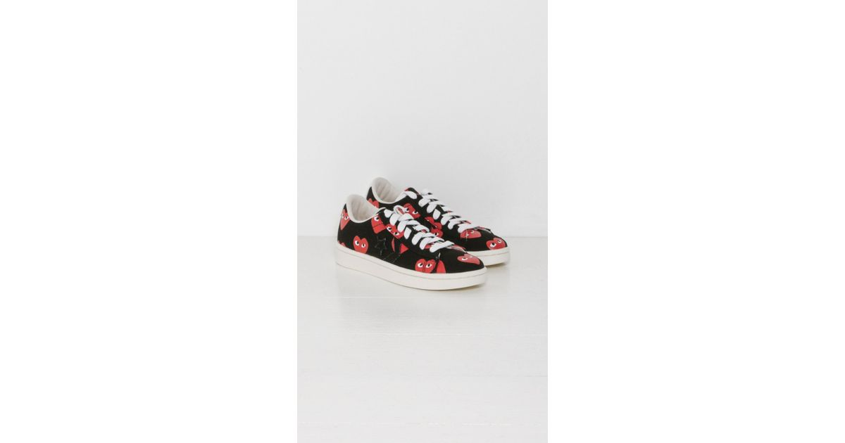 78112886a97c Lyst - Play Comme des Garçons Play Converse Pro Leather Low in Black