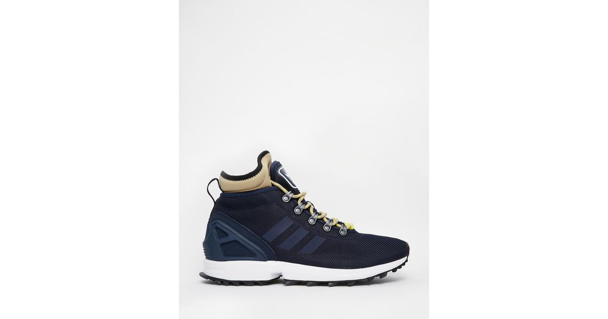 Adidas Originals ZX Flux Winter Navy blue shoes Mens Sneakers S82932