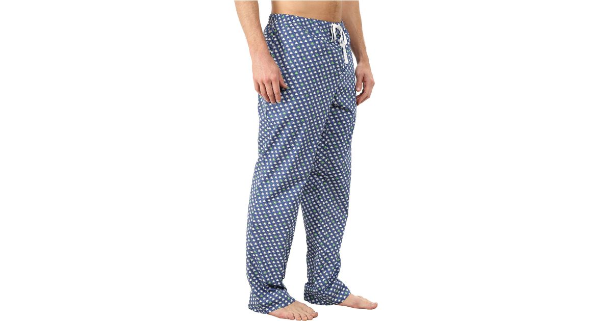 Lyst Vineyard Vines Lounge Pants Palmetto In Blue For Men