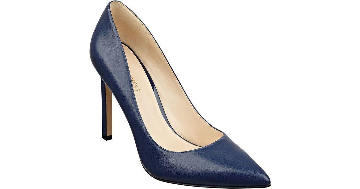 Navy Shoes Womens Heels Nine West
