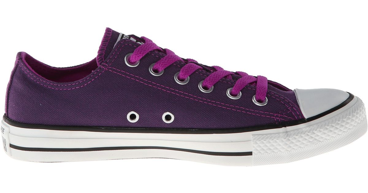 acbb02b0a404 Lyst - Converse Chuck Taylor All Star Dark Wash Neons Ox in Purple