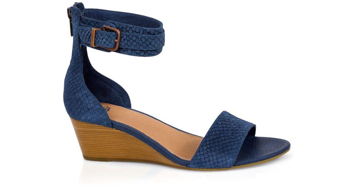 Blue Toe Wedge Ugg ® Char Open Sandals f76YgmbIyv