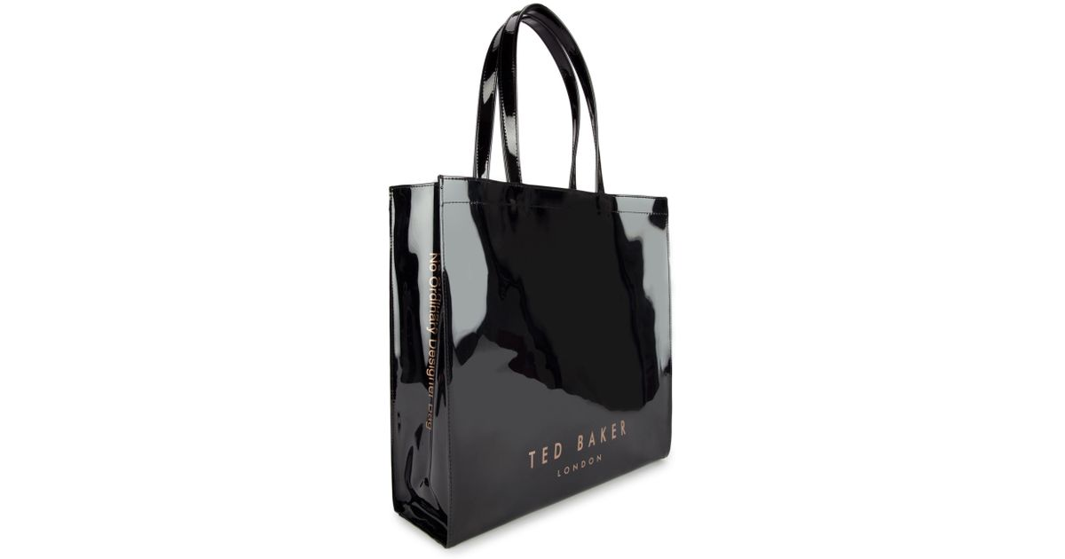 cfce48d66296a Ted Baker Bowicon Large Bow Trim Shopper Bag in Black - Lyst