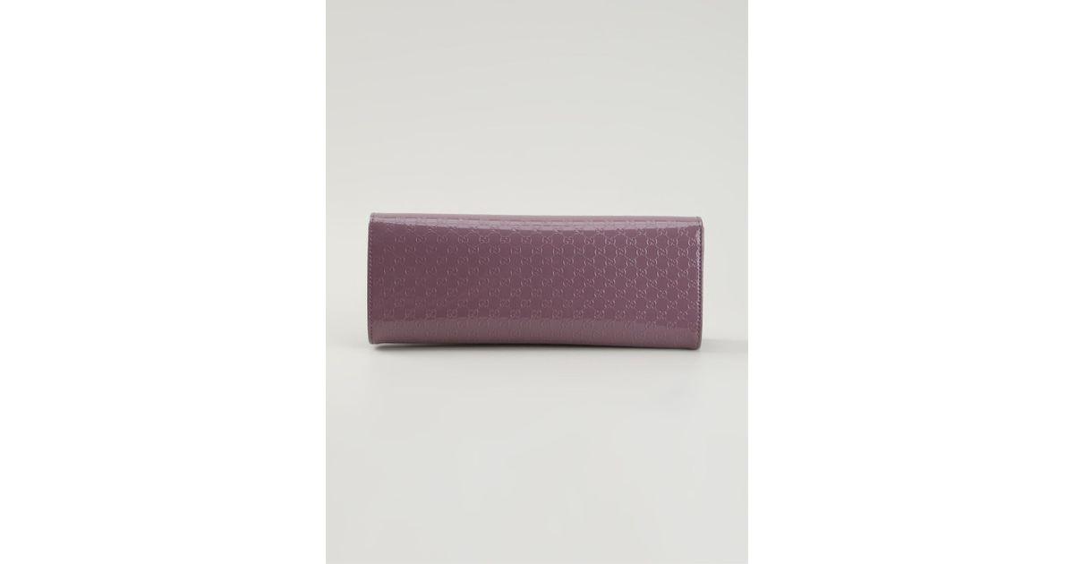 b424c04b88e974 Gucci 'Broadway Ssima' Clutch in Purple - Lyst