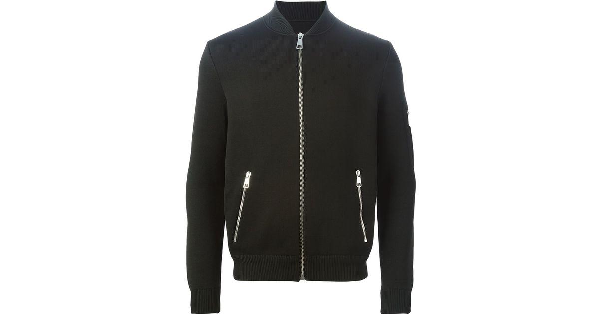 7dfde475f Neil Barrett Black Knitted Bomber Jacket for men