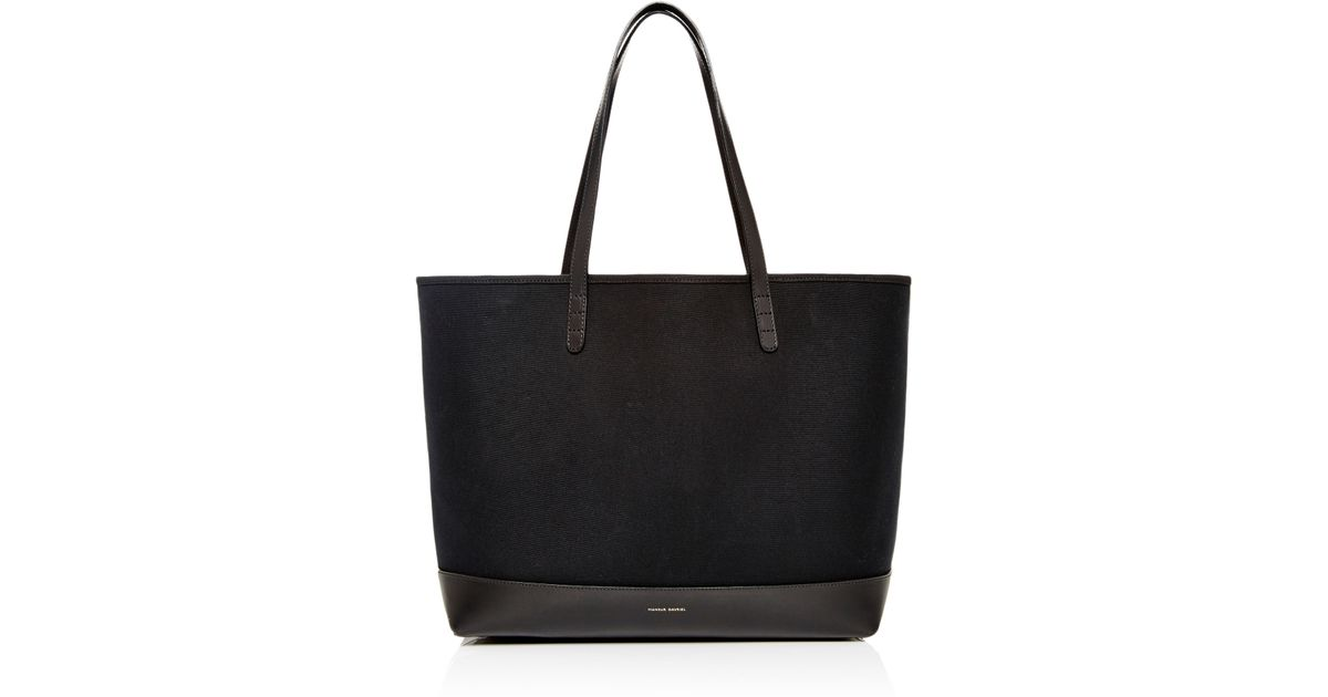 Lyst Mansur Gavriel Large Canvas Tote In Black With Flamma Interior