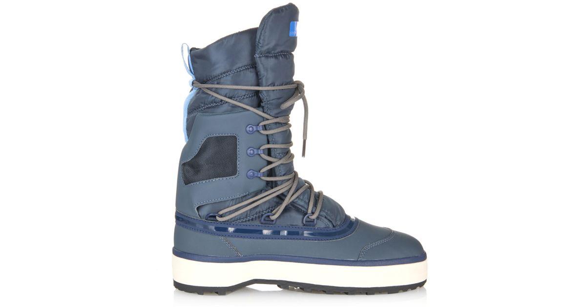 adidas By Stella McCartney Nangator Snow Boots in Blue - Lyst