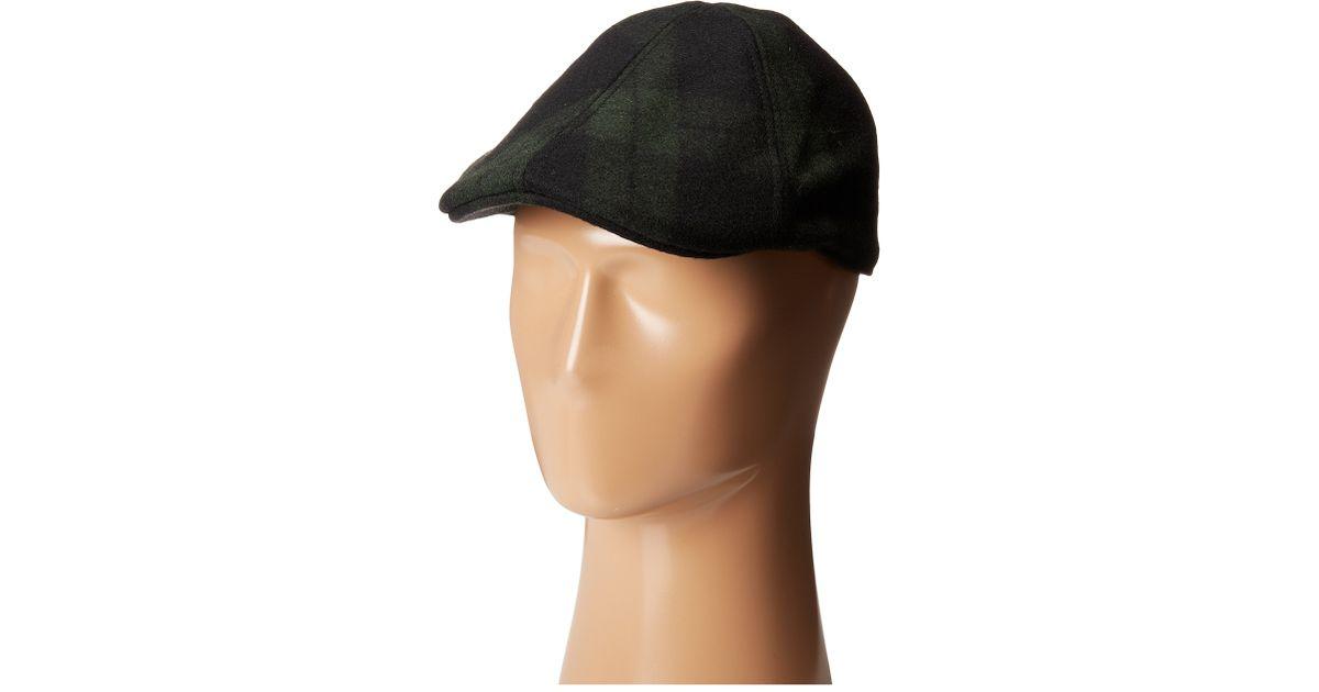 Lyst - Woolrich Duckbill Molded Plaid Ivy Cap in Green for Men b6cff0186b0