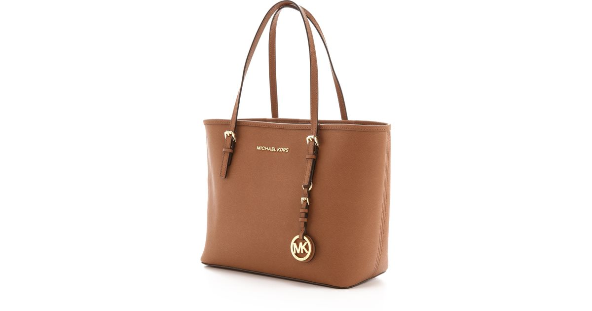 d33ca8731d2f MICHAEL Michael Kors Small Jet Set Travel Tote - Luggage in Brown - Lyst