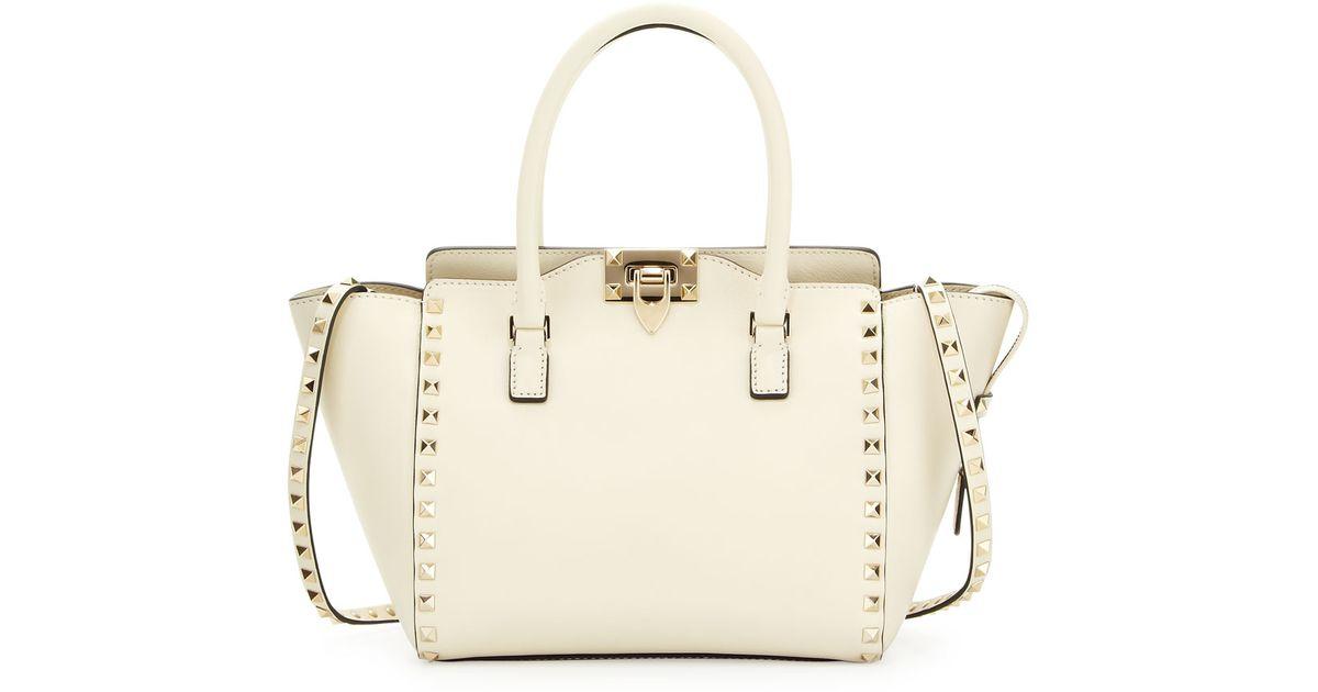 Valentino White Rockstud Per Tote Bag