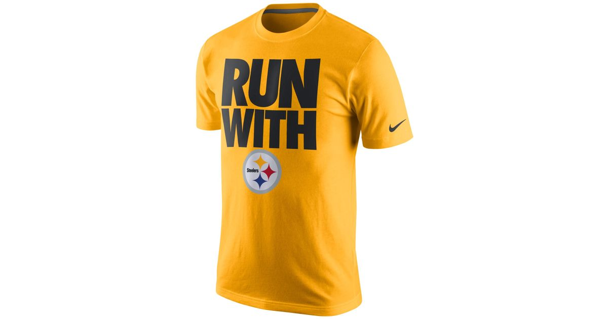 buy popular 86bf2 43262 Nike Metallic Men's Pittsburgh Steelers Team Spirit T-shirt for men