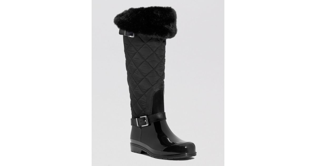 Michael michael kors Cold Weather Rain Boots - Fulton Quilted in ...