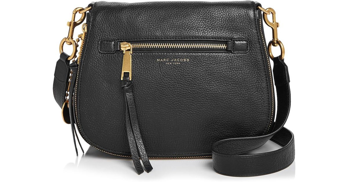 0214e023b4e2 Lyst - Marc Jacobs Recruit Saddle Bag in Red