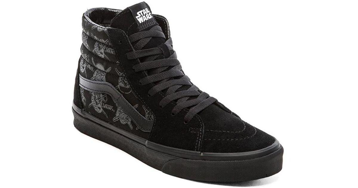 ... classic style 060cf a7866 Lyst - Vans Sk8 Hi Star Wars in Black for Men  ... 9bb39a52e085
