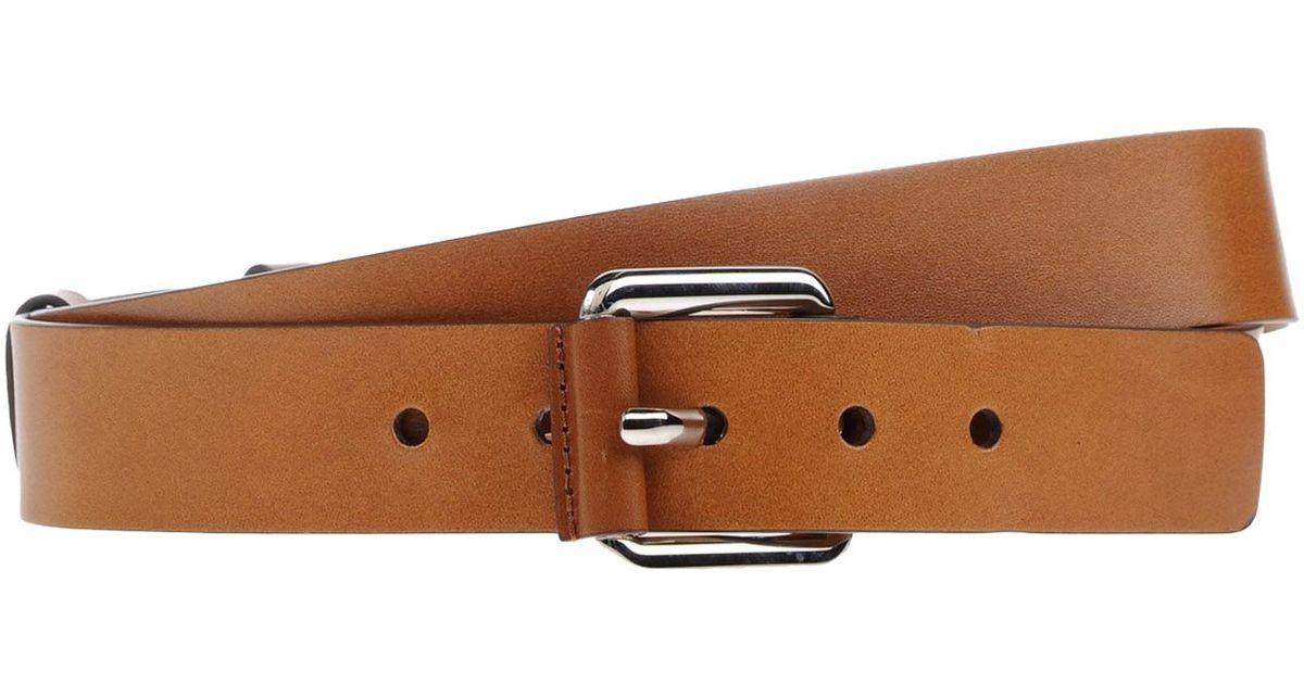 michael kors belt in brown lyst