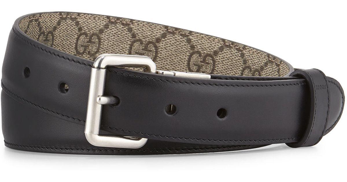 e275f32de1c Lyst - Gucci Gg Monogram Reversible Belt in Black