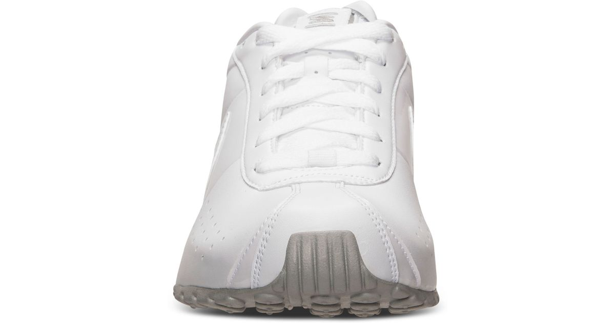 super popular 5d155 42b93 ... coupon code for nike mens shox classic ii si running sneakers from  finish line in white