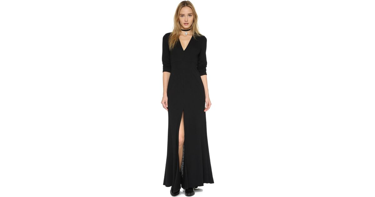 Lyst Lanston Long Sleeve Maxi Dress In Black