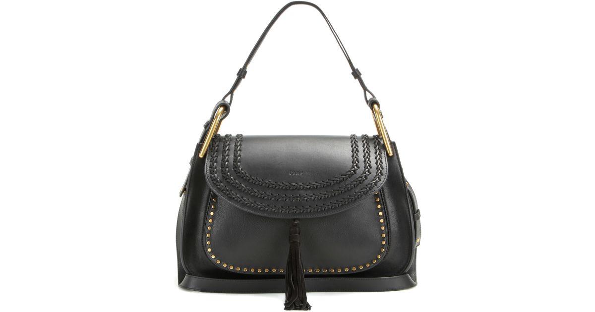 Chlo¨¦ Hudson Leather Shoulder Bag in Black | Lyst