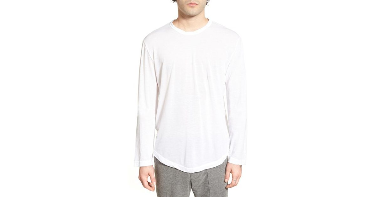 22987e3ad80 Lyst - James Perse Long Sleeve Crewneck T-shirt in White for Men