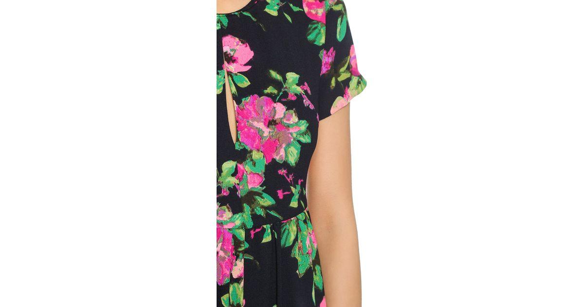 Re:named Lucid Floral Short Sleeve Romper