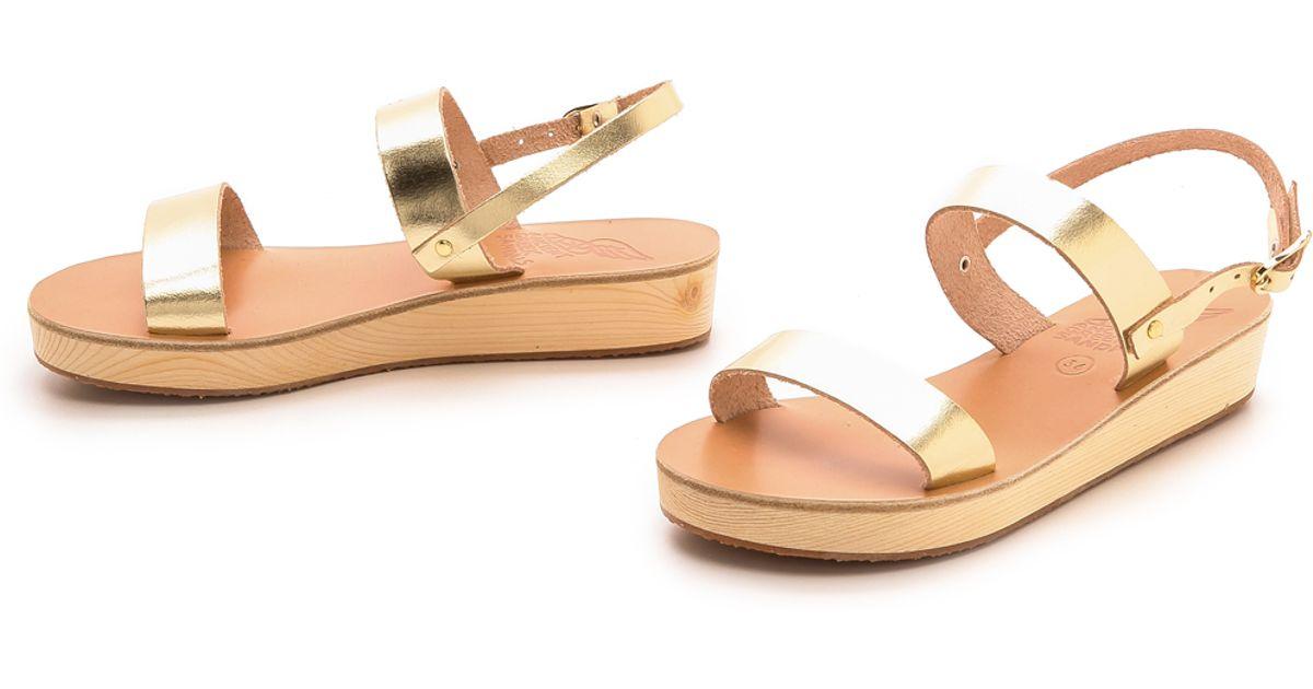 f39e0f2f531 Ancient Greek Sandals Clio Platform Sandals - Platinum in Metallic - Lyst
