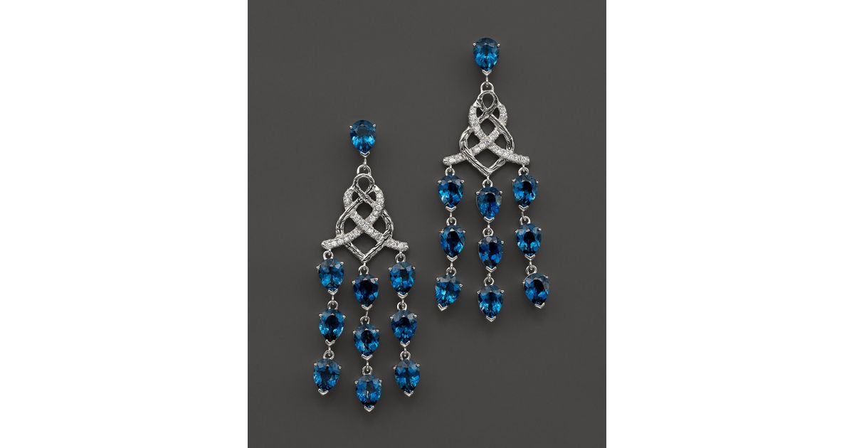 Lyst john hardy sterling silver classic chain chandelier earrings lyst john hardy sterling silver classic chain chandelier earrings with london blue topaz and diamonds in blue aloadofball Image collections