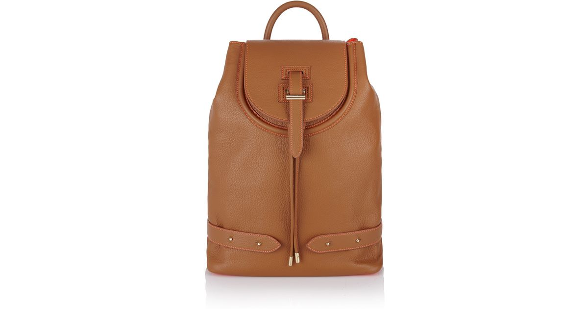 Lyst - Meli Melo Backpack Tan   Fluoro Coral in Brown 2c3d310a69226