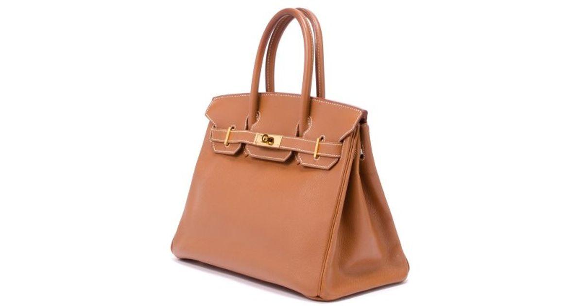 ... best price lyst hermès pre owned gold courchevel leather birkin 30 bag  in metallic 73b96 8bcc8 6fb4ff56c286f