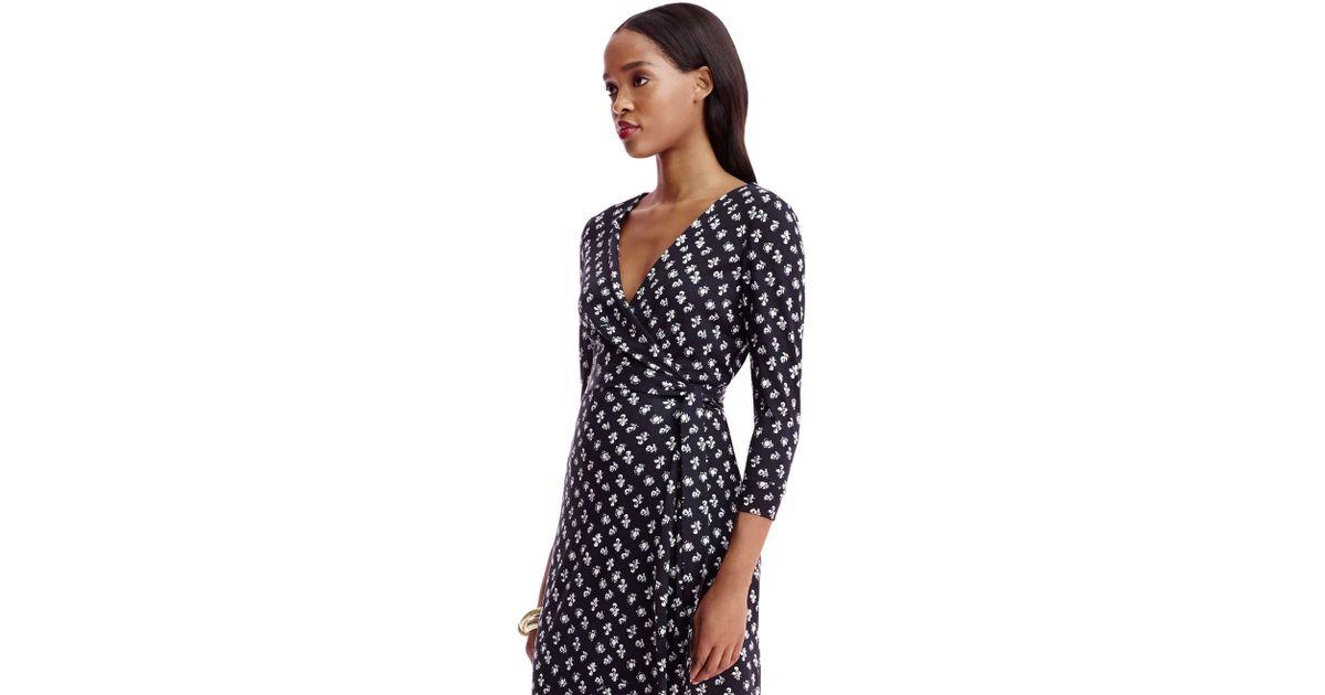 d0c24e73159a Lyst - Diane von Furstenberg New Julian Silk Wrap Dress in Blue