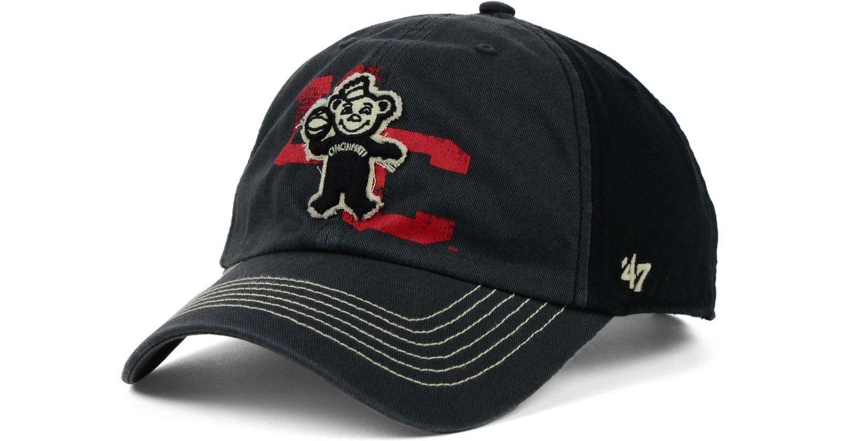outlet store cfdff d9479 47 Brand Cincinnati Bearcats Clean Up Cap in Black for Men - Lyst