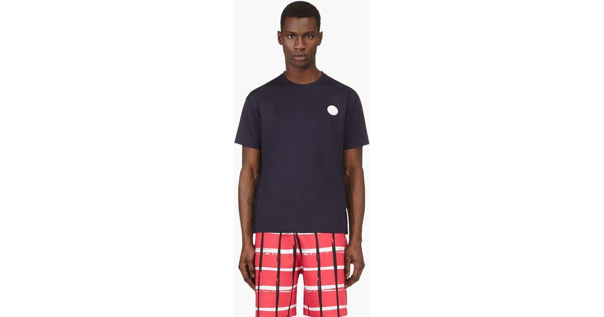 d0c4fd3eaa KENZO Blue Navy Neoprene Logo T_shirt for men