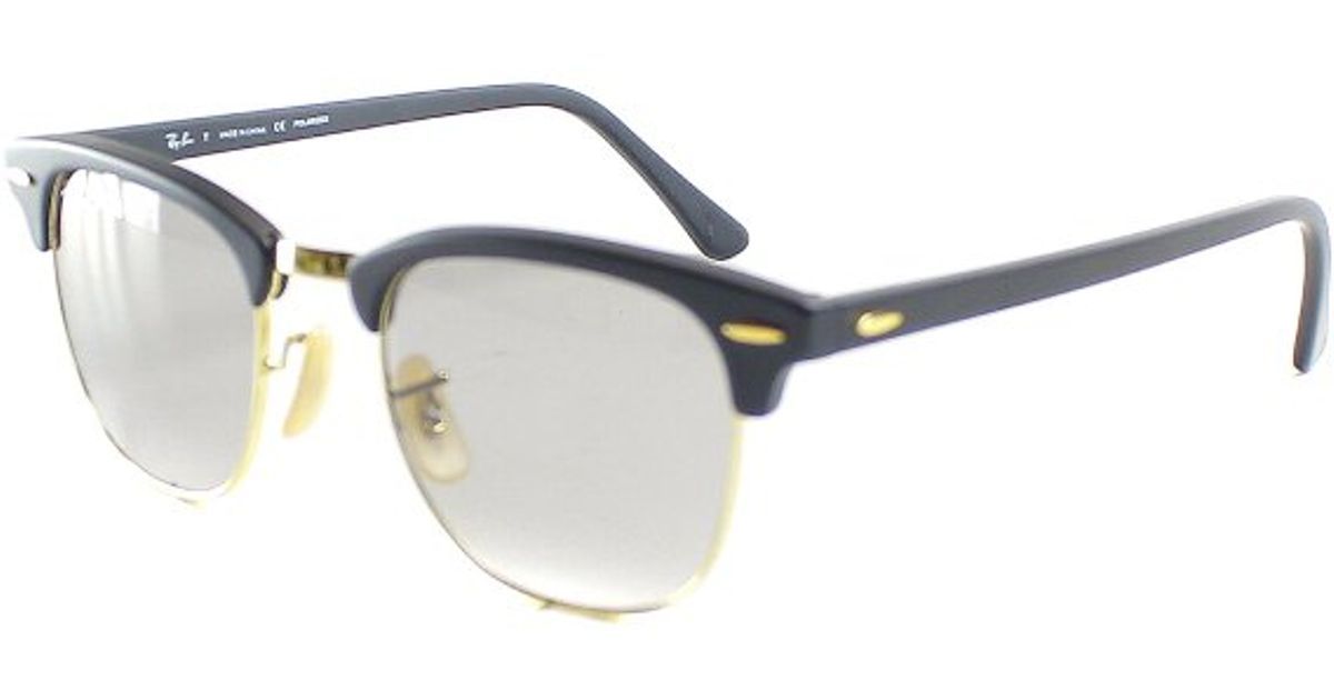 8ed4539f86 ... real ray ban ray ban rb3016 clubmaster 901sp2 matte black sunglasses grey  polarized lens 49mm in