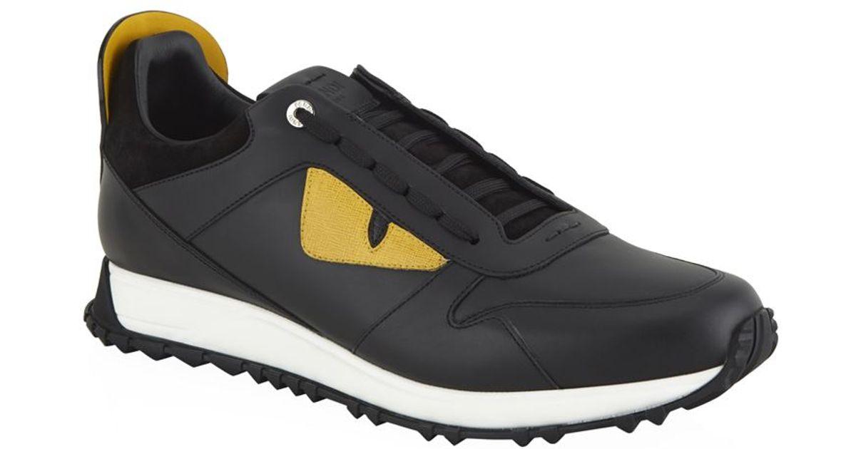 Fendi Monster Eyes Sneaker in Black for