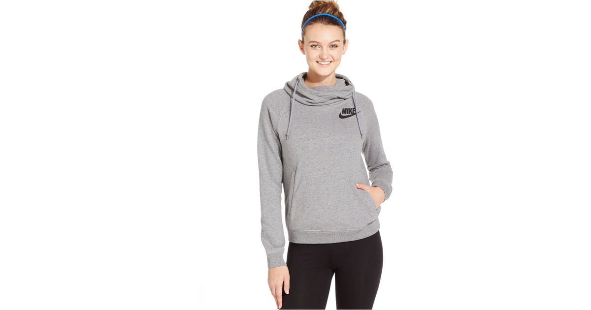 0ddff4e97 Nike Rally Funnel-neck Pullover Hoodie in Black - Lyst