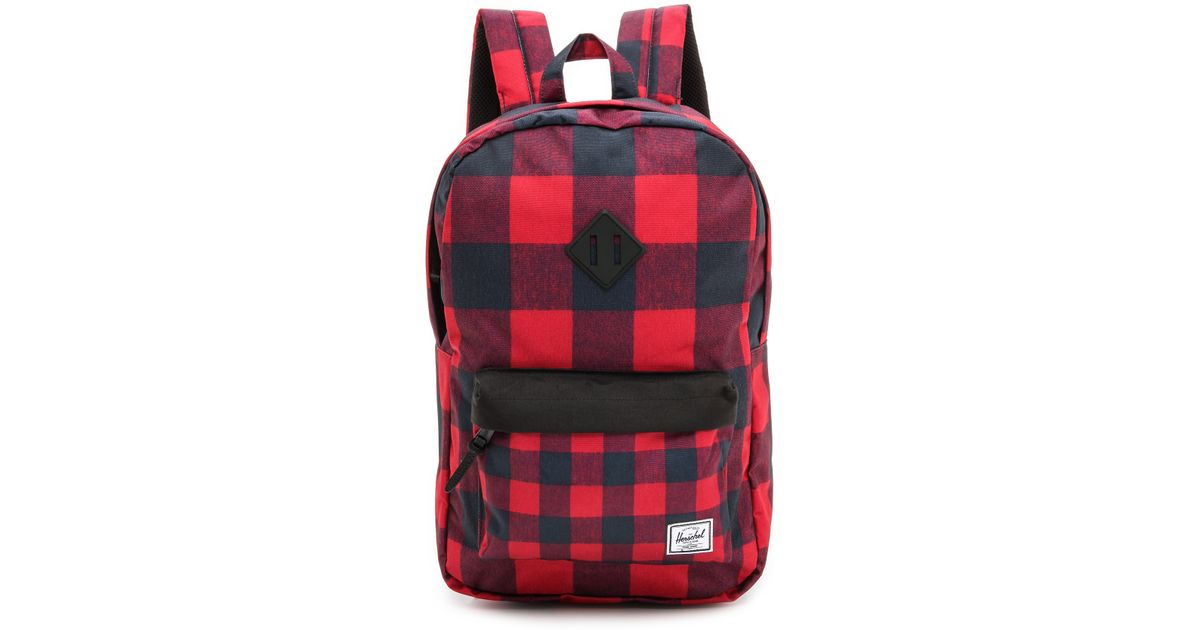 Herschel Supply Co. Heritage Backpack - Buffalo Plaid Black in Red - Lyst 265faef6e7dba