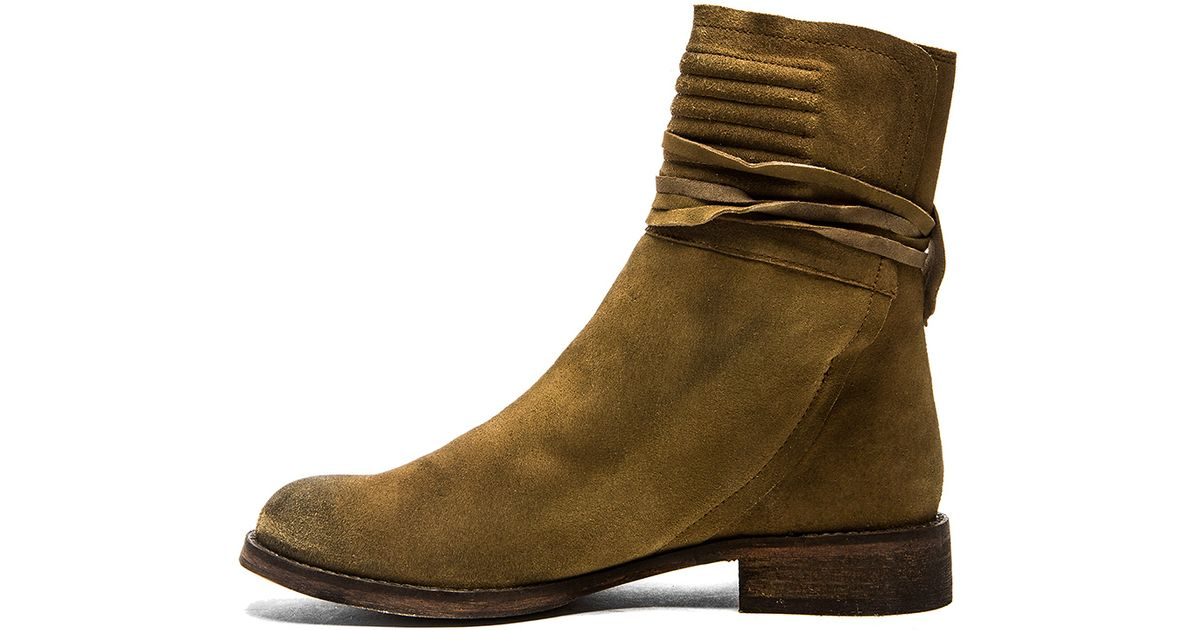 Free People Womens Cambridge Wrap Boots Booties Brown 6 New