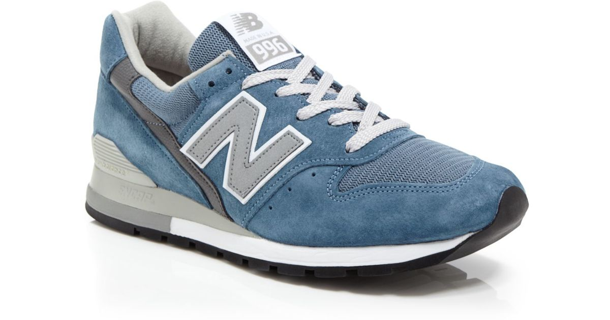 new style 2d76c 15da1 New Balance Blue Made In Usa 996 Sneakers for men