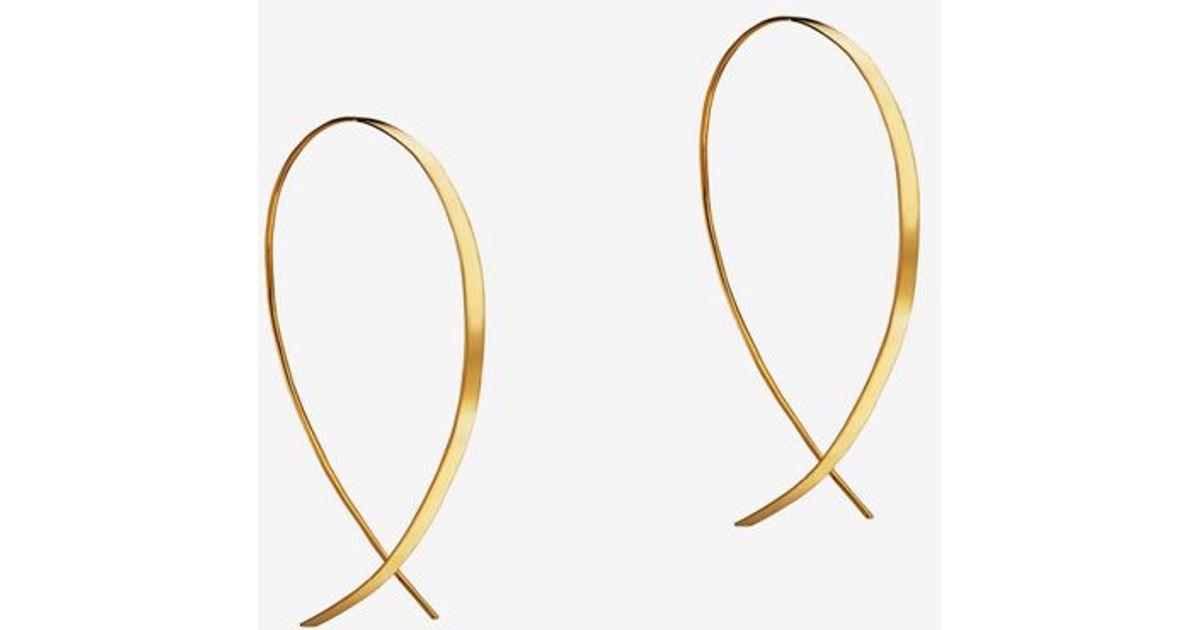 eefe21adeca7d Lana Jewelry Metallic Small Flat Upside Down Hoop Earrings