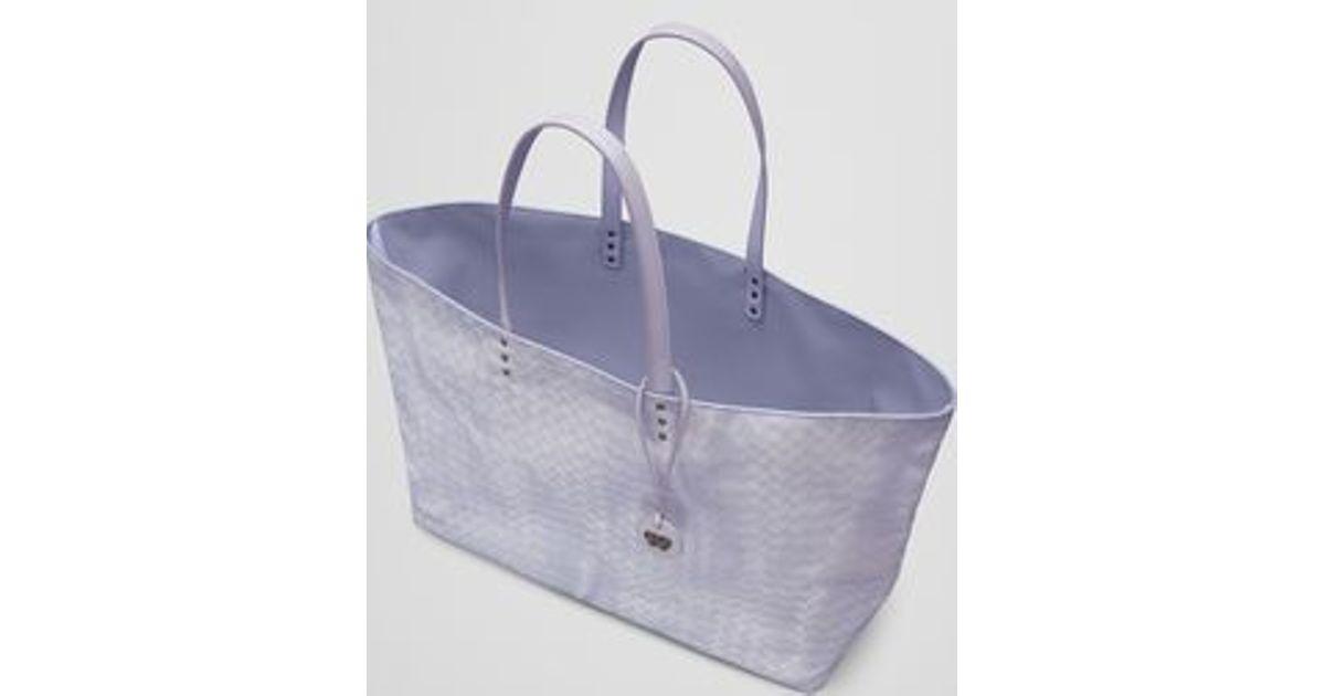 e3195316c0 Bottega Veneta Large Tote Bag In Oyster Intrecciolusion in Metallic - Lyst