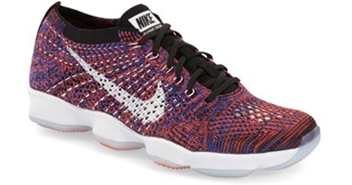 07a6bba4f863 ... inexpensive lyst nike flyknit zoom agility training shoe in purple  4a1ad 66f95