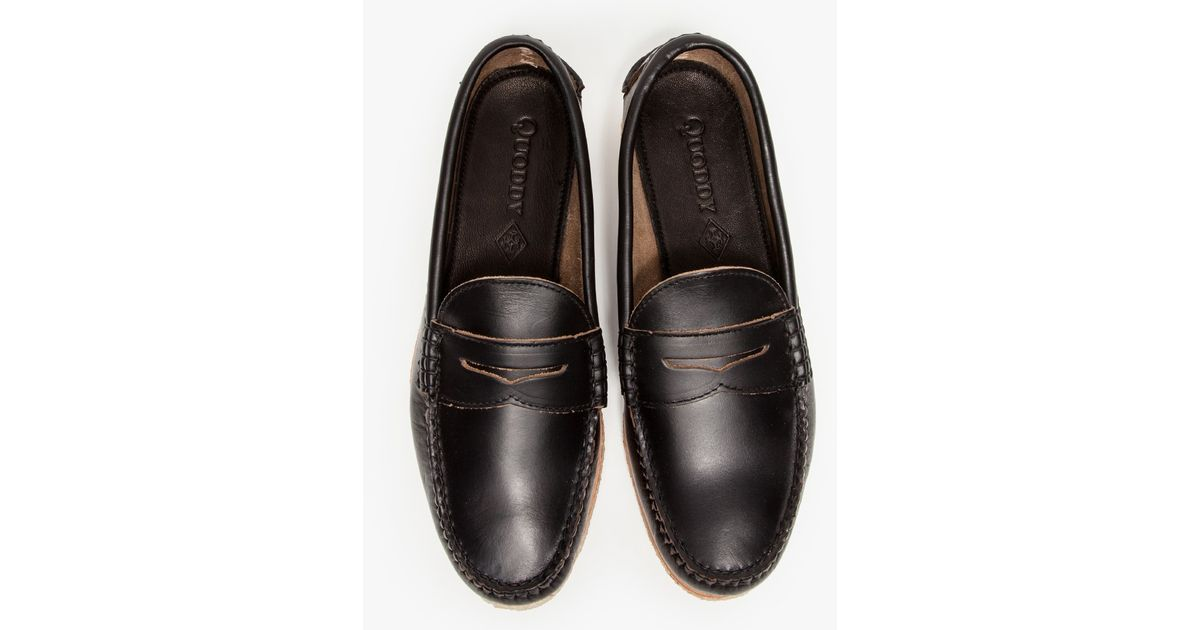32e8767f493 Lyst - Quoddy True Penny Loafer In Black in Black for Men